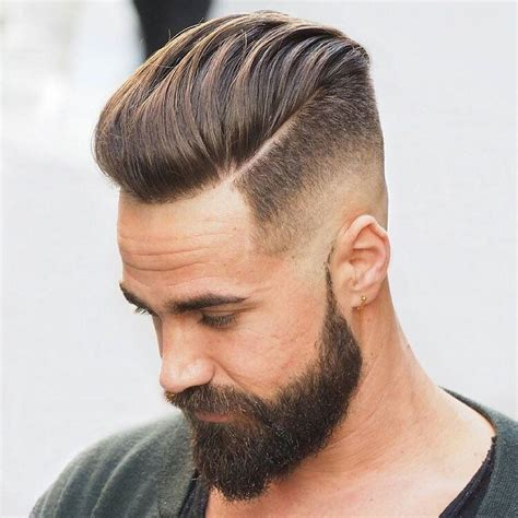 haircuts to go with beards cool part haircut for men with beards fancy haircuts