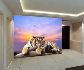 Print Wall Murals Tiger Live Wildlife 3d Full Wall Mural Large Print