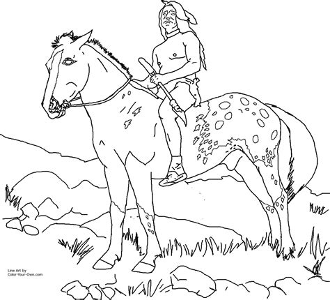 free coloring pages of cree indian