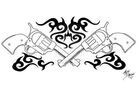 tribal gun tattoos gun tribal shooter gun design tattooshunter