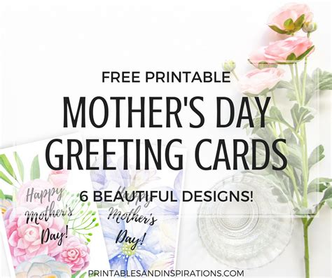 floral s day card printable free printable mothers day cards with beautiful flowers printables and inspirations