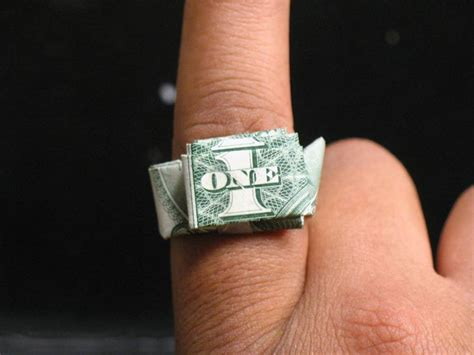 Origami Dollar Bill Ring - dollar ring origami 171 embroidery origami