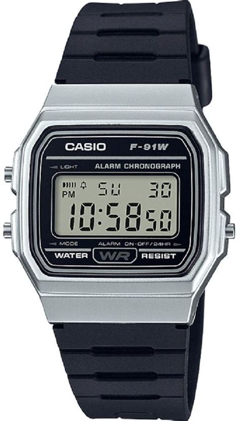 s casio classic silver digital f91wm 7a