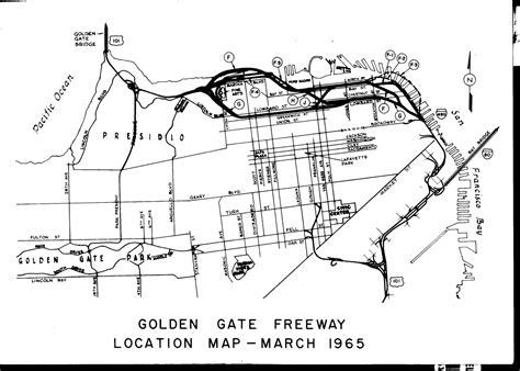 san francisco map dwg interstate 480 freeway plan