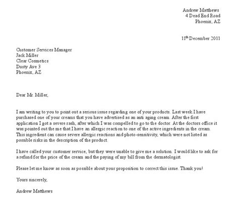 sle of grievance letter free formal letter of complaint exle projects to try letter exle search