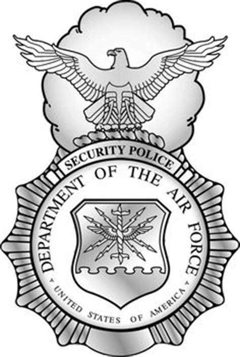 Air Police USAF . this is the badge that is issued to