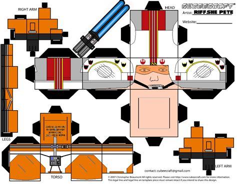 X Wing Papercraft - luke skywalker x wing pilot cubeecraft by riffshepete on