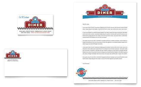 diner menu template free american diner restaurant business card letterhead
