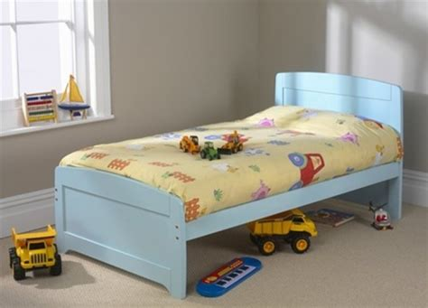 small single bed friendship mill rainbow blue bed 3ft single wooden bed