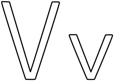 Letter V letter v coloring page alphabet