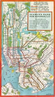 New York Subway Map With Streets by New York Subway Map 1930 Nyc Mappery