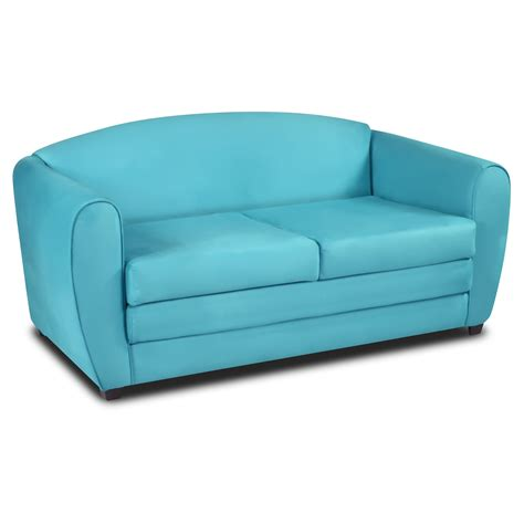 totally tween sofa sleeper sky blue suede