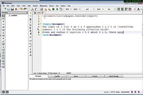tutorial latex texstudio first latex document exle using texstudio youtube