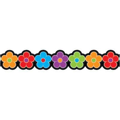 free printable flowers for bulletin boards bulletin board borders for april clipart best