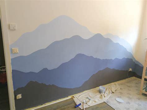 kinderzimmer berge malen anzeige diy kinderzimmer berglandschaft malen mit auro
