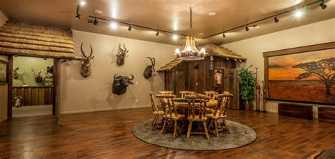 Home Decor Sacramento by African Safari Game Room Amp Hunting Fishing Trophy Room