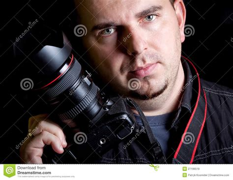free selfportrait stock photo freeimages self portrait of the photographer with dslr stock image image 27196519