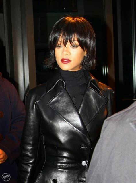 leather leather leather blog rihanna leather coat