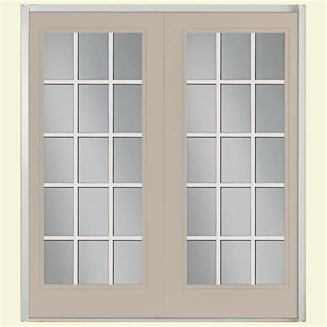 Masterpiece 72 In X 80 In Composite Left Hand Sliding Masonite Patio Doors
