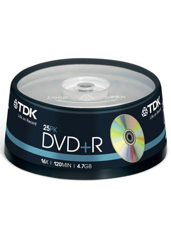 format 4 7 gb dvd tdk dvd r 4 7gb 25 p cakebox discshop se