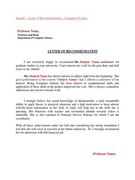 Letter Of Recommendation Graduate School Engineering best solutions of lor graduate school for your letter of