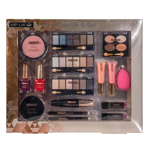 Cosmetics For Vips by Vip Uk 16 Deluxe Cosmetics Set Tj Hughes