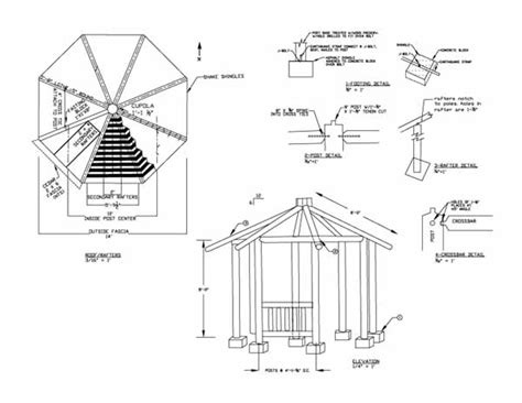 gazebo floor plans plans gazebo the best way to build a lean to shed 8