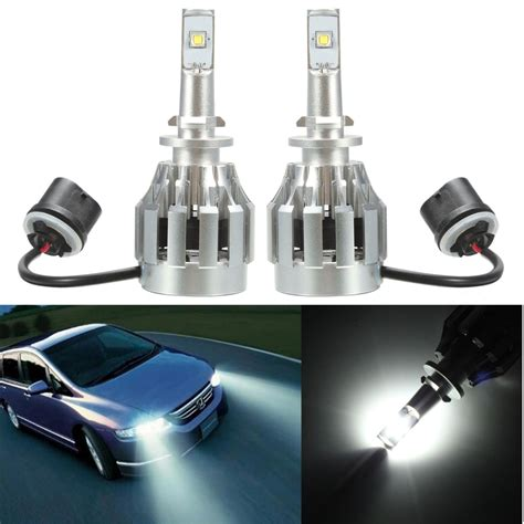 Led Xenon pair car 880 20w 3000k 3000lm led xenon white headlight bulbs light alex nld