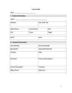 client profile template client profile template client profile template for