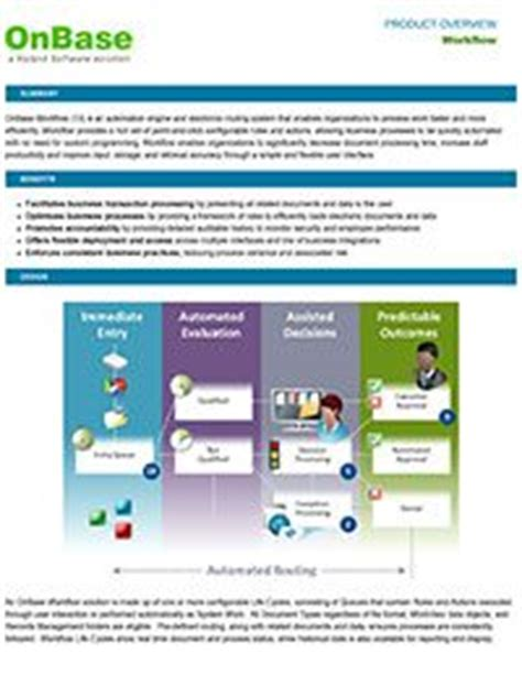 onbase workflow all software systems library onbase software