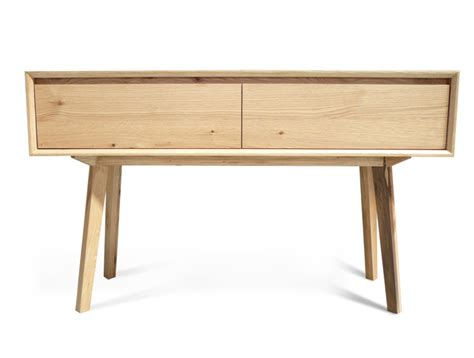 felix american oak sofa table cabinet retro