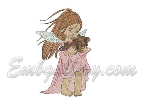 embroidery design angel angels machine embroidery