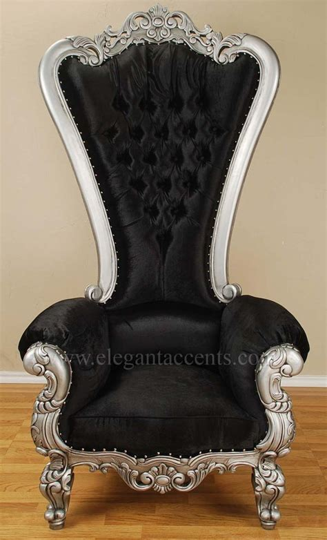Black Throne Chair