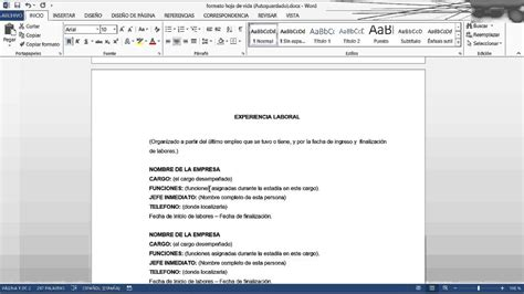 Modelo Curriculum Simple Para Trabajo Curriculum Vitae Modelo Simple Para Trabajo Free Resume Sles Writing Guides For All