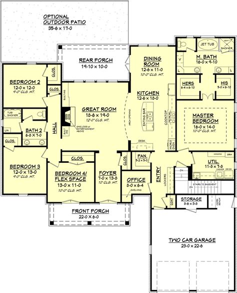4 bed 2 bath european style house plan 4 beds 2 baths 2480 sq ft plan