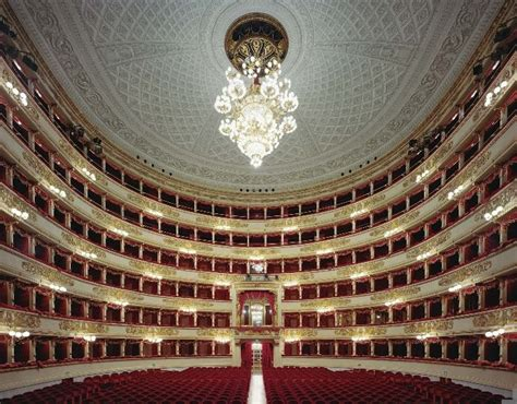 La Scala Interior by Fascinating Opera Houses Interiors Photographed By David