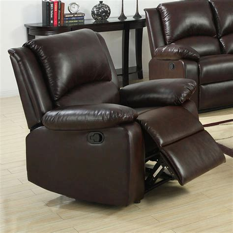 venetian recliner venetian worldwide oxford rustic dark brown leatherette