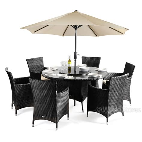 rattan patio dining set cannes rattan 6 seater garden furniture dining set