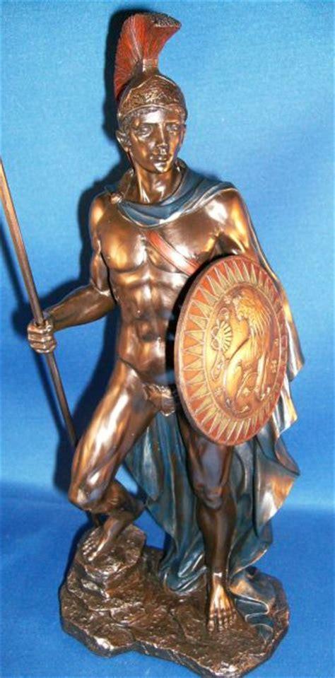 ares mars statue greek roman god of war figure bronze 12 5 polyvore roman god of war ares or mars statue greek god ares