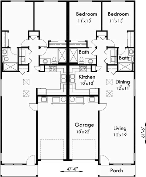 one level living floor plans duplex house plans one level duplex house plans d 529