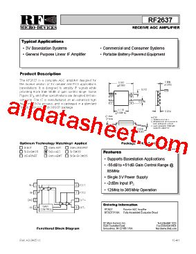 datasheet of rf diode rf2637 datasheet pdf rf micro devices