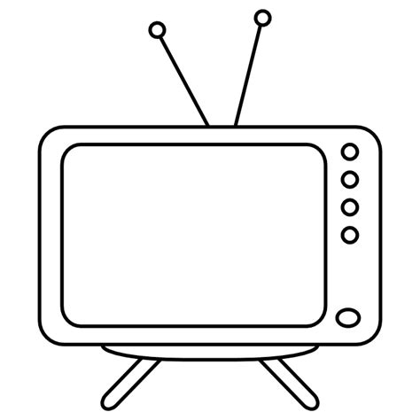 tv clipart colouring pages cliparts co