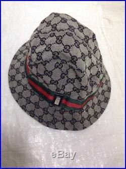 vintage womens hats vtg gucci gg bucket fedora hat