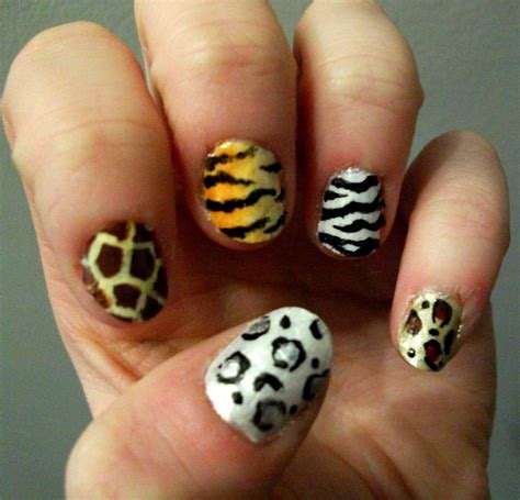 leopard pattern nail art 38 animal print nail art designs godfather style
