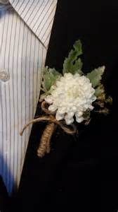 burlap boutonniere wedding boutonniere boutineer rustic white flower with burlap