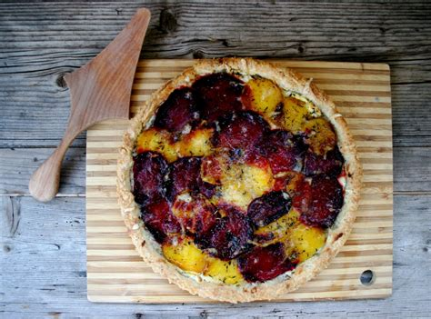goat cheese tart nothing in the house red golden beet and goat cheese tart
