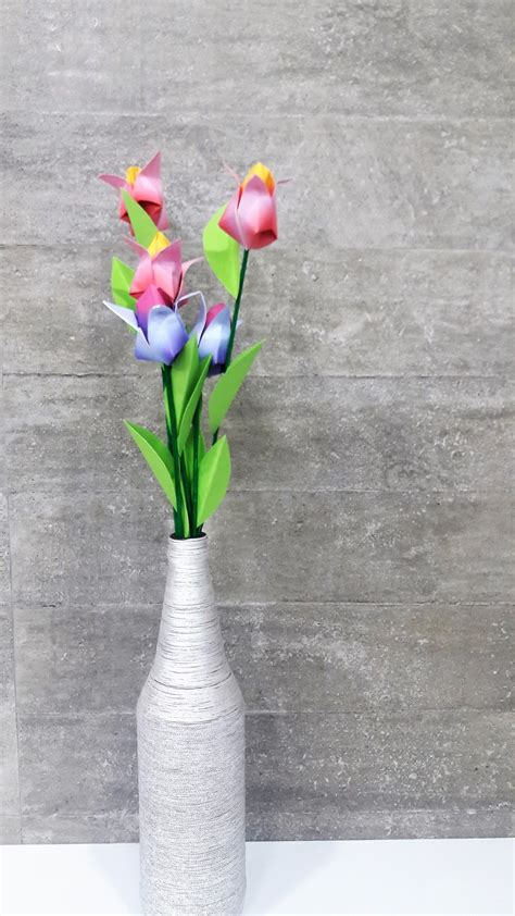 Origami Tulip Bouquet - origami tulip flowers diy n craft mommyswallmommyswall