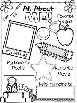 preschool coloring pages all about me all about me preschool worksheet worksheets for all