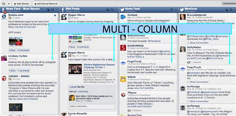 two column layout web design social media management tools what s the right tool for