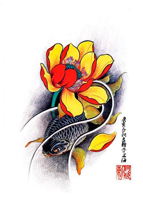 koi and lotus tattoo designs 1000 images about koi designs on fish